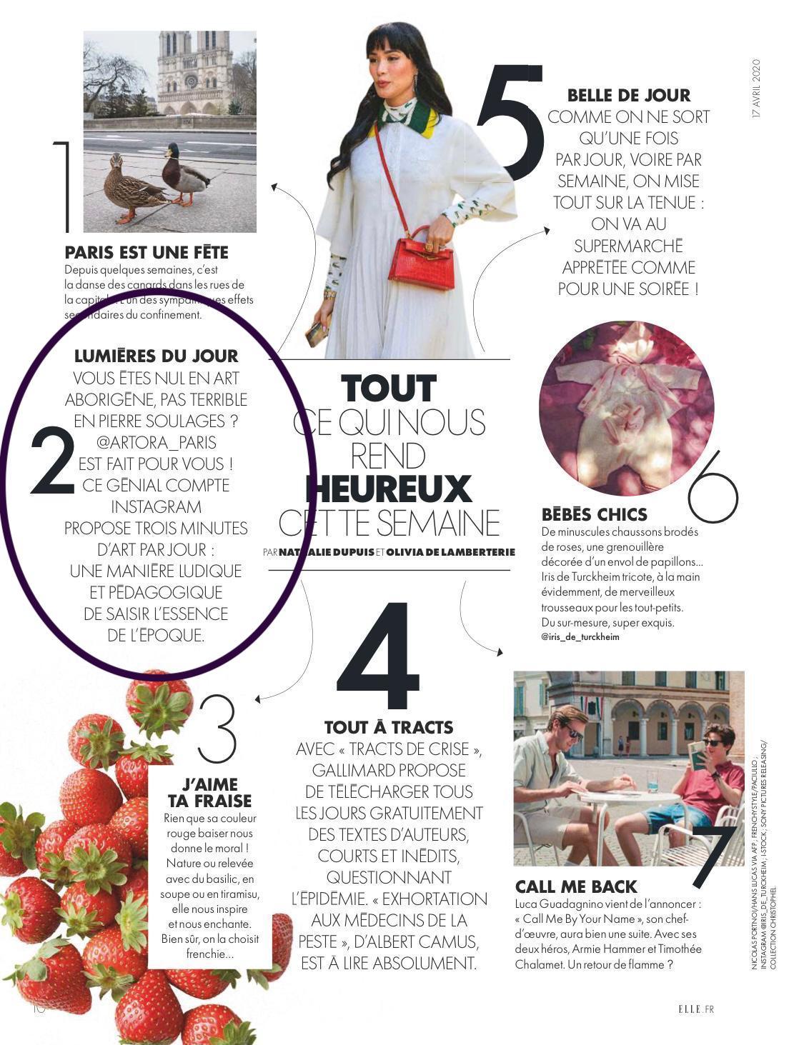 Pastille sur ARTORA magazine Elle